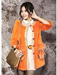 3/4 Sleeve Kragen Rabbit Fur And Waschbär-Pelz-Party / Mantel lässig (weitere Farben)