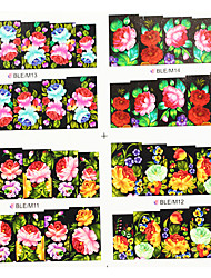 4ni1 Colorful Flower Water Transfer Printing Nail Art Stickers