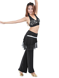 Belly Dance Sexy Strap Beading Nylon & Rayon Top & Bottom Outfits For Women