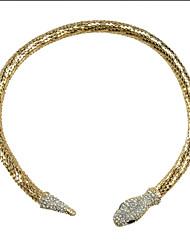 Colar apelativo Moda JANE STONE Ouro Serpente