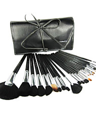 24Pcs Professional High Quality Makeup Brush Set with Free Leather Case