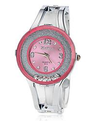 Rouler Diamante ronde des femmes Dial Band Montre LCD Digital Fashion alliage (couleurs assorties)