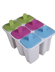 6 Cups English Characters Shapes Popcicle Moulds Tray,  Food Safe PP Material, Random Color