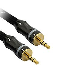 C-Cable AUX 3.5mm M/M Audio Cable Black Net-Plated(5M)