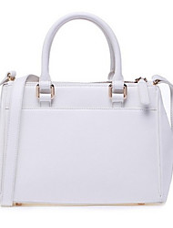 Beauty Women's Candy Color Vintage PU Leather Tote
