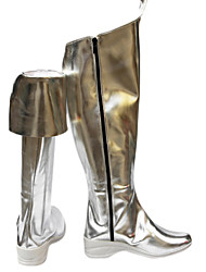 Vocaloid Miku Silver Fashion Shining Patent Leather Cosplay Boots