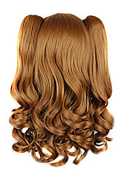 High Quality Cosplay Synthetic Wig Harajuku Style Lolita Candy Wavy Long Wig(Brown)