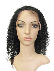 """Full Lace 16 """"Cora Curly indiano de 100% Remy cabelo humano Lace Wig-5 cores para escolher"""