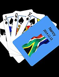 Motif Drapeau de l'Afrique du Sud Bleu cadeau personnalisé Carte de jeu