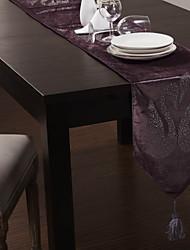 """Purple Velvet Tischläufer mit Diamant Swan 80 """"× 12"""""""