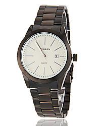 Hombres Sencillo All Round Igualados Dial venda de la aleación de cuarzo analógico reloj Casual (colores surtidos)