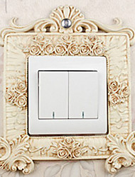 European Luxury Palace Style White Light Switch Stickers