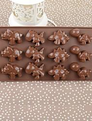 Silicone Color Box Dinosaur Cake Chocolate Mould,21.5x10.8x1.4cm(Random Color)