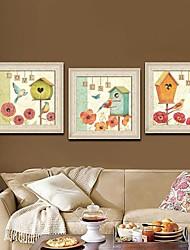Amor Animal Home Framed Canvas Juego de 3