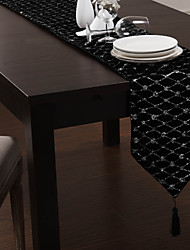 Black Polyester Table Runners