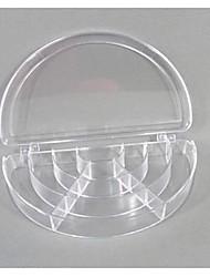 Semicircle Plastic 10 Compartments Transparent  Storage Case