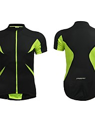 Jaggad Summer Unisex Black Fluo Green Polyester Spandex Rear Zipper Pocket Cycling Jersey
