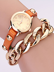 Koshi 2014 de mode sur Gild Rivet chaîne des femmes Watch (Orange)