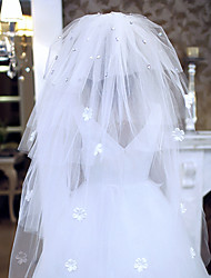 Four Tier Cathedral Wedding Veil With Satin Flora