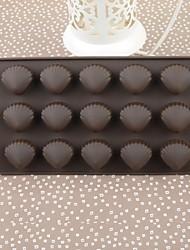 Silicone Color Box Shell Cake Chocolate Mould,21.5x10.8x1.4cm(Random Color)