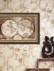 El mapa del mundo Framed Canvas
