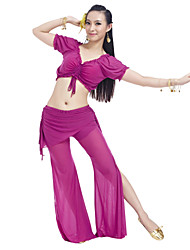 Belly Dance Outfits Women's Training Nylon / Spandex Ruffles Black / Light Purple / Pink / Purple / Peach / CoffeeBelly Dance /
