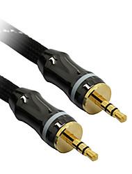 C-Cable AUX 3.5mm M/M Audio Cable Black Net-Plated(1M)