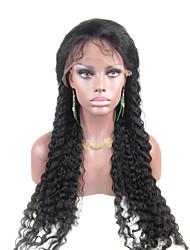 "Acessível 24 Lace Front ""Água ondulado indiano de 100% Remy cabelo humano Lace Wig-5 cores para escolher"