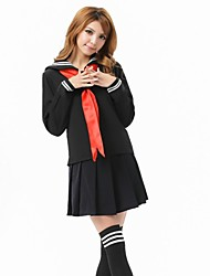 Lingerie sexy studenti Uniform Cosplay Nero Set