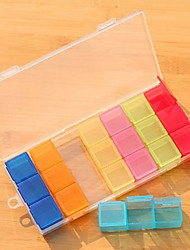 Colorful 21 Cellrooms Pill Box simple
