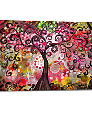 Hand Painted Oil Painting Landscape Abstract Tree For Decoration with Stretched Frame
