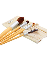 Bamboo Handle Makeup Brush Set with PE Bag