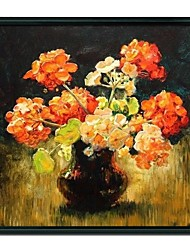 Still Life Orange Flower Framed Oil Painting