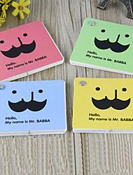 Motif Funny barbe Solid Color Notes (couleur aléatoire)