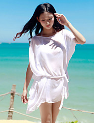 Women's Pure Color Loose Cover-up Swimdress