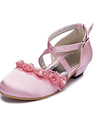 Girl's Flats Spring / Summer / Fall / Winter Comfort Satin Wedding / Party & Evening Flat Heel Ruffles Black / Pink / White