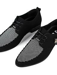 Haopeng Herren Basic-Solid Color Lace-Up-Leder-Schuhe 2292