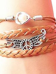 (1 PC) Brown acrylique bracelet d'enveloppe de la mode 20cm femmes