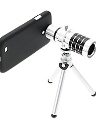 Zoom 12X Telephoto Aluminum Cellphone Lens with Tripod for Samsung S4