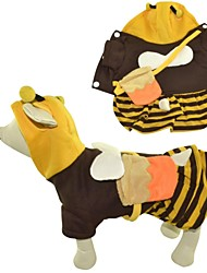 Adorable Honey Bee Cosplay Warm Cats Dogs Costume