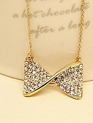 Austríaco pingente de cristal borboleta nó arco Colar Acessórios de moda para mulheres