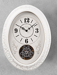 """16""""H Retro Classical Gear Style Wall Clock With White Side"""