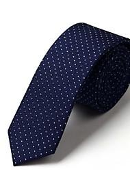 Classic Faux lazos de seda de la manera para los hombres de negocios Los lazos con Littel Lunares 5cm corbata