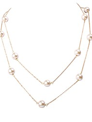 JANE STONE Gold Chain Natural Water Pearl Necklace Bridal Jewelry