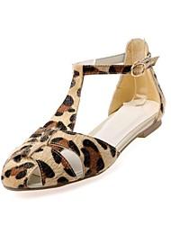 Leather Women's Flat Heel Comfort Sandals Shoes (More Colors)