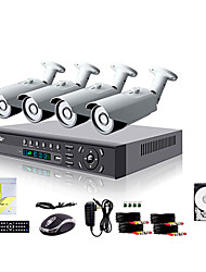 Liview® 4CH HDMI 960H Network DVR 700TVL Outdoor Day/Night Security Camera System 1TB Hard Drive