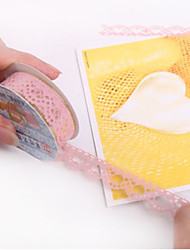 Elegant Lace Design Tape Sticker(Random Color)