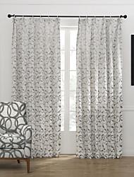 (Dos paneles) elegante sala de trigo curvada cortina de oscurecimiento