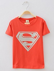 Girl's Tee,Print Cotton Summer