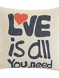 Modern Minimalism Motto Love Is All You Need Decorative Pillow Cover